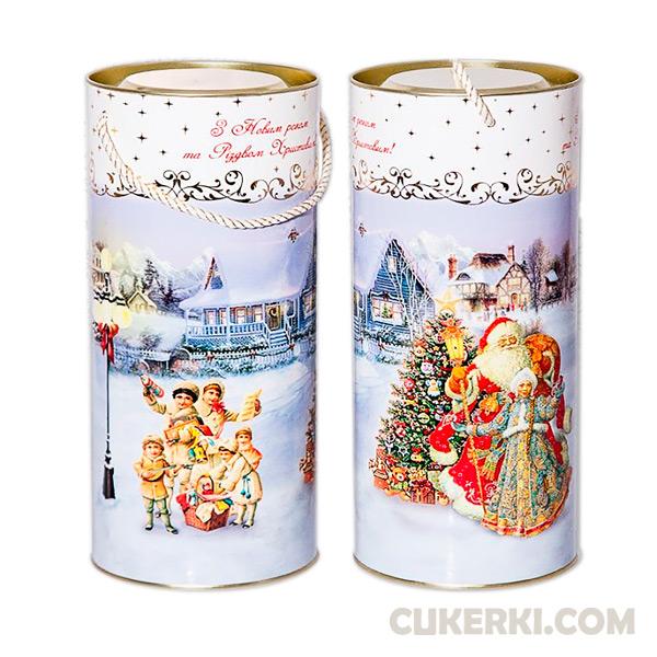 Новогодний подарок № 5 Туба Діда Мороза на лижах